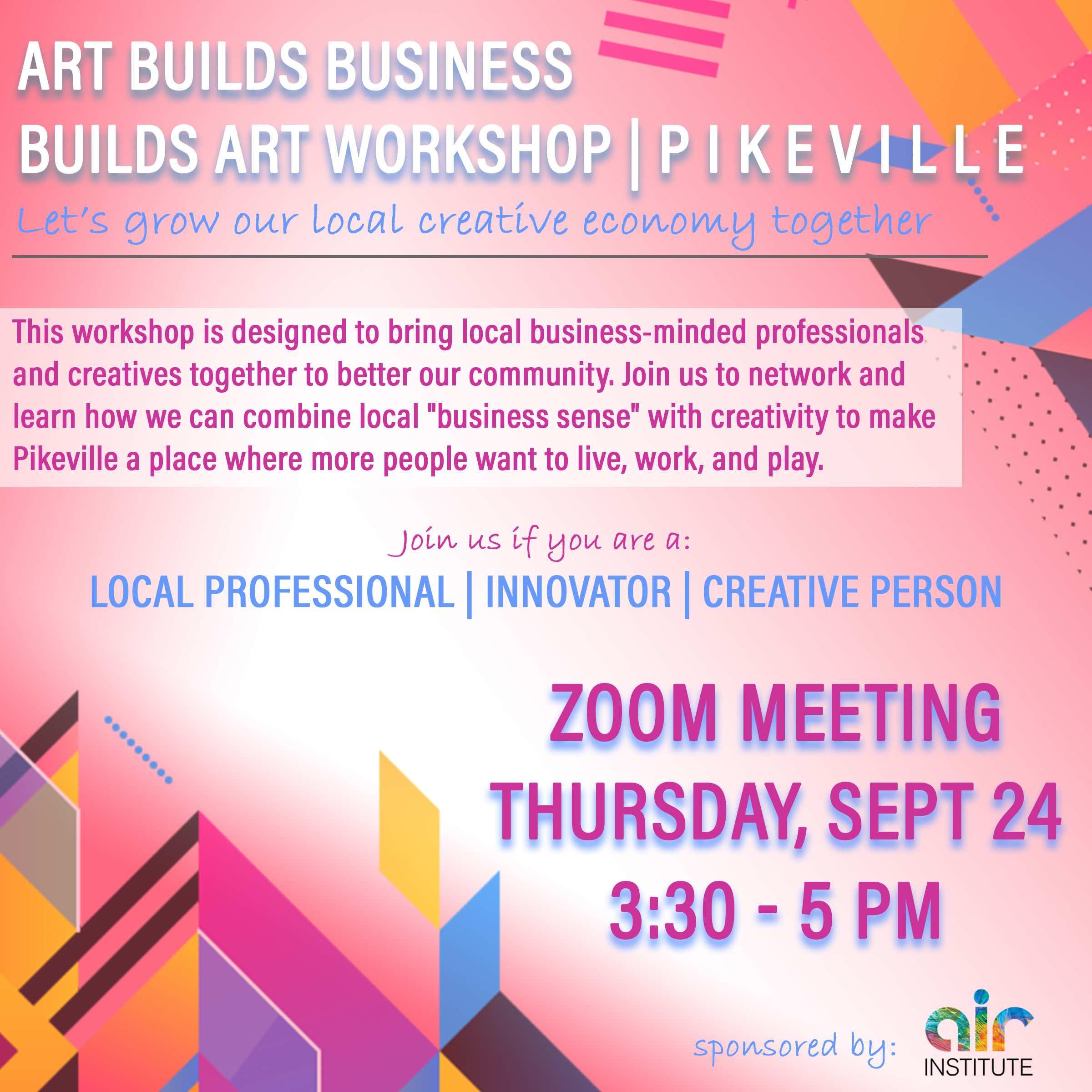 art builds business flyer
