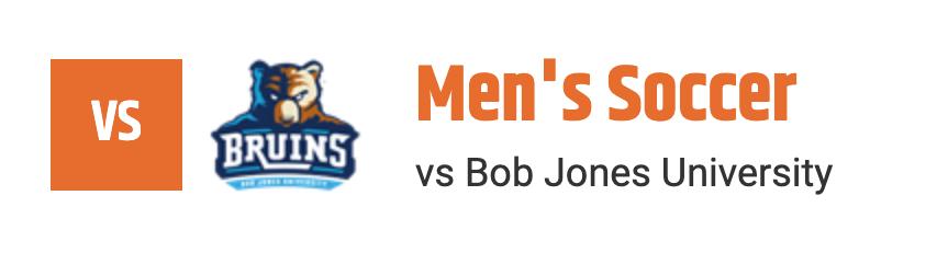 MSOC VS BOB JONES UNIVERSITY