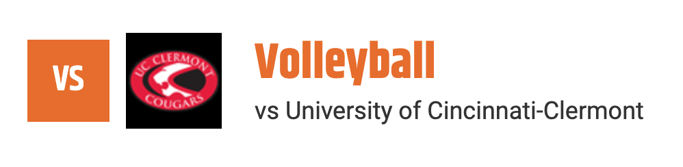 VB vs University of Cincinnati-Clermont