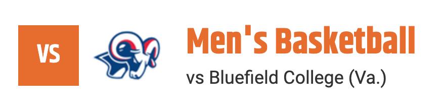 Men's Basketball vs Bluefield College (Va.)