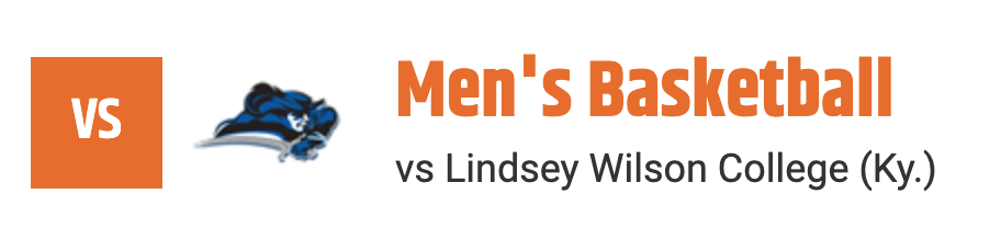 mens basketball vs lindsey wilson