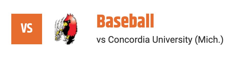 baseball vs concordia