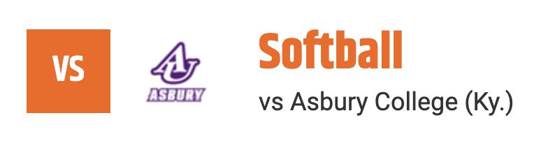 softball vs asbury