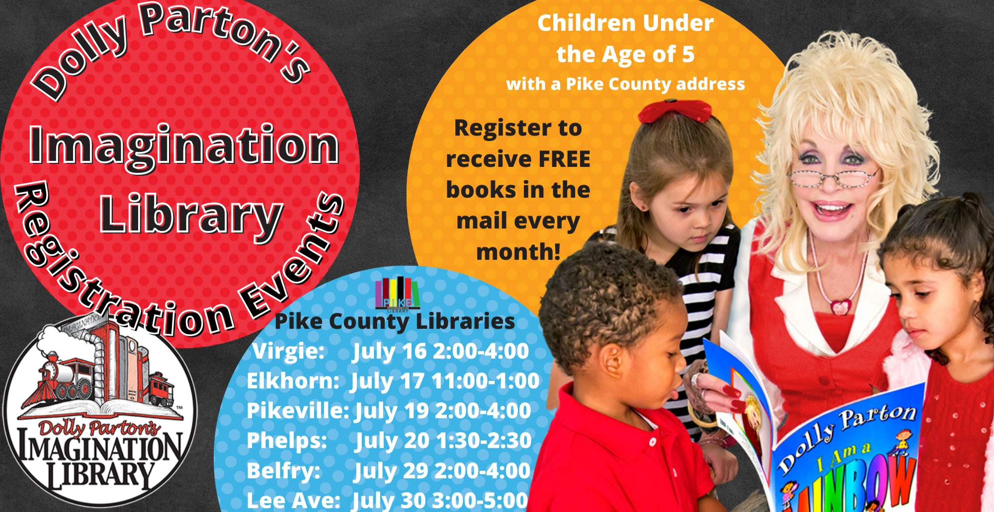 Dolly Parton's Imagination Library Registration Events