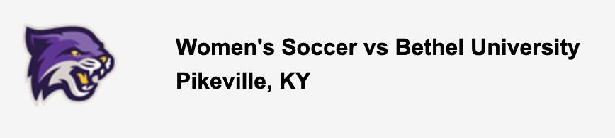 Women's Soccer vs Bethel University