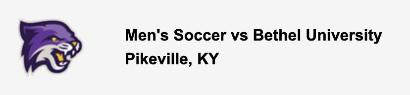 Men's Soccer vs Bethel University