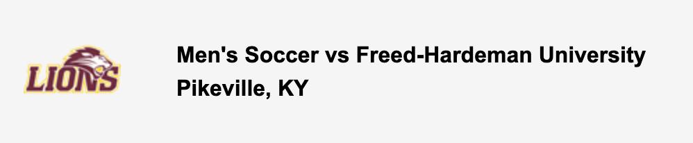Men's Soccer vs Freed-Hardeman University