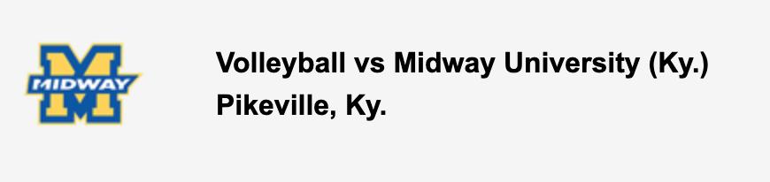 Volleyball vs Midway University (Ky.)