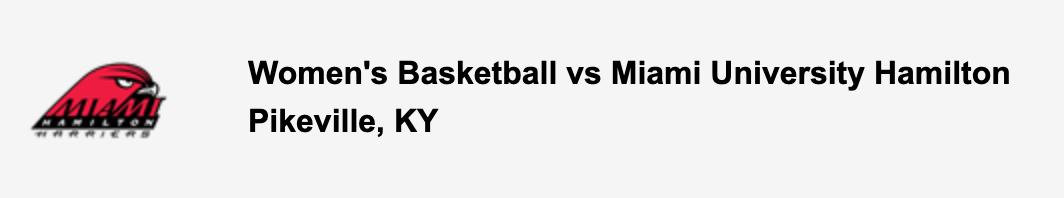 Women's Basketball vs Miami University Hamilton