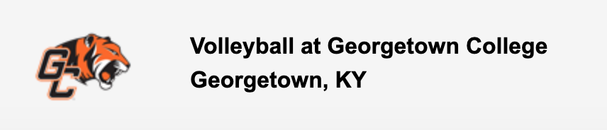 Volleyball at Georgetown College