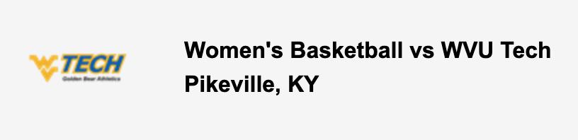Women's Basketball vs WVU Tech