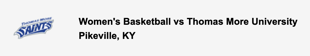 Women's Basketball vs Thomas More University